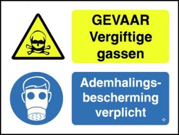 Gevaar vergiftige gassen / ademhalingsbescherming verplicht