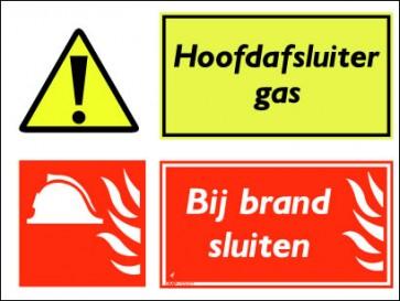 Hoofdafsluiter gas / Bij brand sluiten