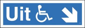 Uitgang voor rolstoel schuin rechts