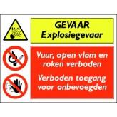 GEVAAR explosiegevaar