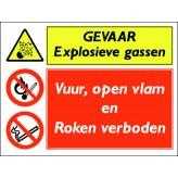 GEVAAR explosieve gassen