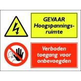 GEVAAR Hoogspanningsruimte / verboden toegang