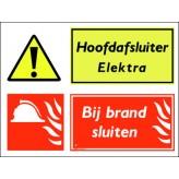 Hoofdafsluiter Elektra / Bij brand sluiten