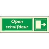 Open schuifdeur Nalichtend 20 x 8 cm