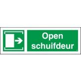 Open schuifdeur