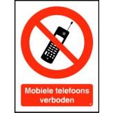 Mobiele telefoons verboden