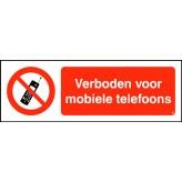 Verboden voor mobiele telefoons