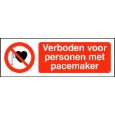 Verboden voor personen met pacemaker